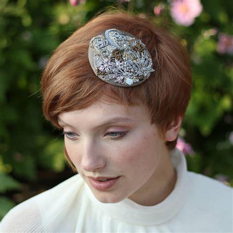 bridal circular headpiece by the headmistress ...