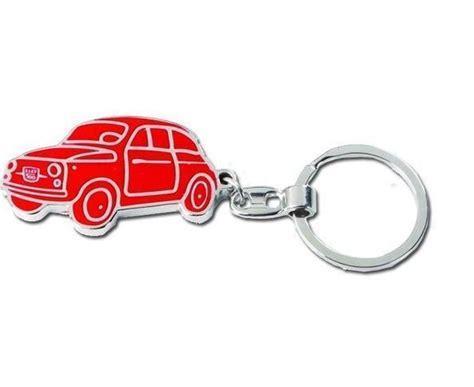 porte cles bijoux de sac porte clefs fiat  rouge