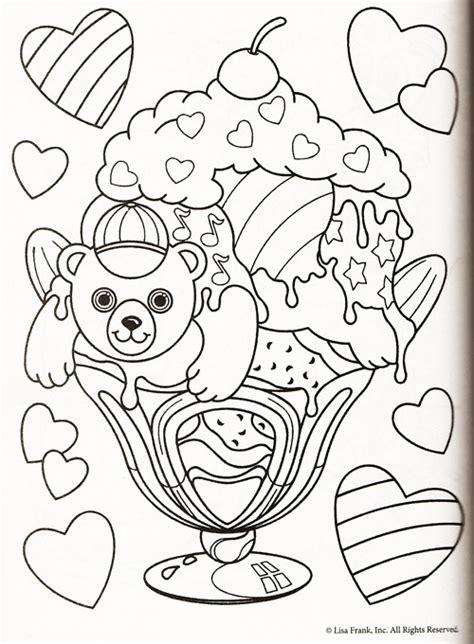 lisa frank coloring pages kidsuki
