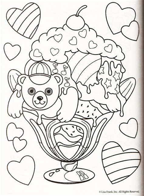 lisa frank coloring pages  sun flower pages