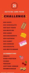no junk food challenge say goodbye to your unhealthy