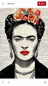 Frida Kahlo Kunstwerk : freda khalo coloring in inspiration tips examples pinterest kunst bilder und malerei ~ Markanthonyermac.com Haus und Dekorationen