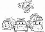 Poli Robocar Pages Colouring Korean Animated South Picolour Children sketch template