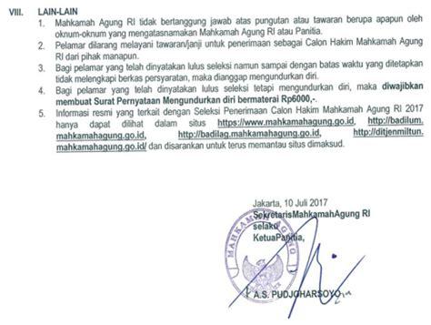 Contoh Sul Surat Lamaran by Contoh Surat Lamaran Kerja Mahkamah Agung Contoh Sul