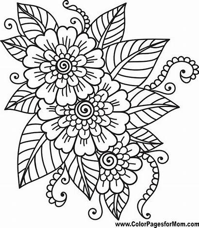 Coloring Completed Adult Pages Getcolorings Flowers