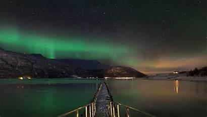 Norway Aurora Lights Borealis Snow Night Winter