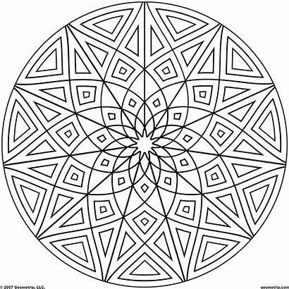 Coloring Geometric Shape Printable Popular