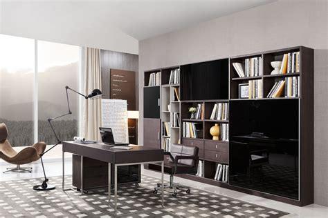 modrest ezra modern brown oak  grey office desk  side
