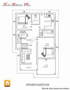 3 BED ROOM 1500 SQUARE FEET HOUSE PLAN ARCHITECTURE KERALA
