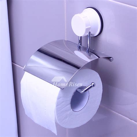cheap chrome suction cup  drill toilet paper holder