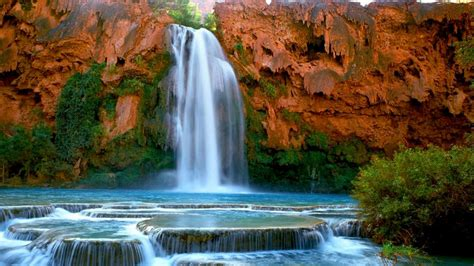 havasu falls havasupai arizona   desktop hd wallpaper