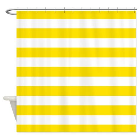 Yellow And White Striped Curtains by Yellow And White Stripes Shower Curtain By Inspirationzstore