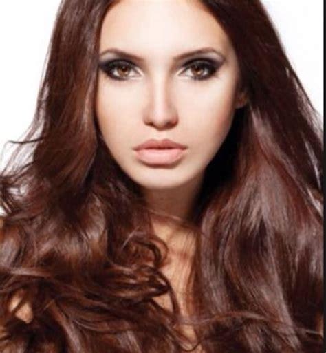 beautiful warm brown hair color