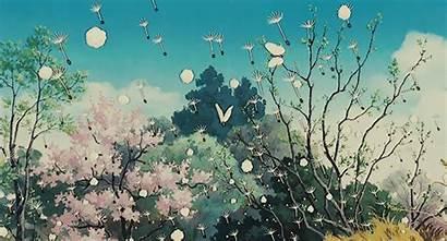Ghibli Scenery Anime Studio Pom Poko Gifs