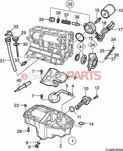 saab oil filter l v x genuine parts 4 2l engine diagram With saab key diagram