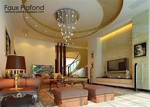 Decoration Faux Plafond : decoration salon faux plafond ~ Melissatoandfro.com Idées de Décoration