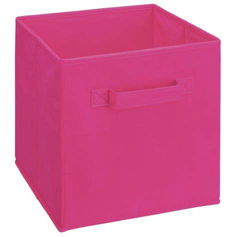 Closetmaid Storage Baskets - closetmaid pink fabric storage bin organizer container box