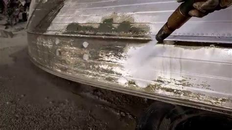 Aluminum Boat Paint Removal by Vintage Mid 60 S 14 Aluminum Boat Blasting