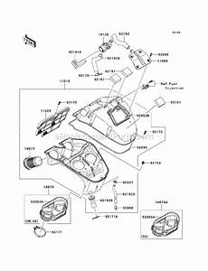 Kawasaki Ex650-a8f Parts List And Diagram