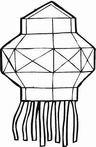 Free chinese lantern coloring pages