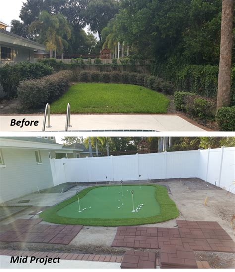 Cost Of Backyard Putting Green - do it yourself putting greens custom putting greens