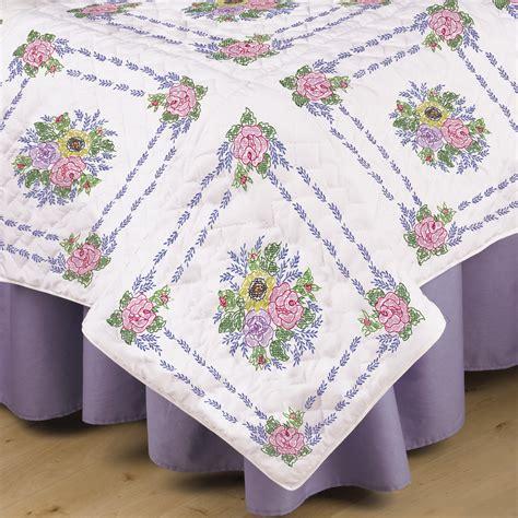 cross stitch quilt blocks tobin sted cross stitch white quilt blocks floral