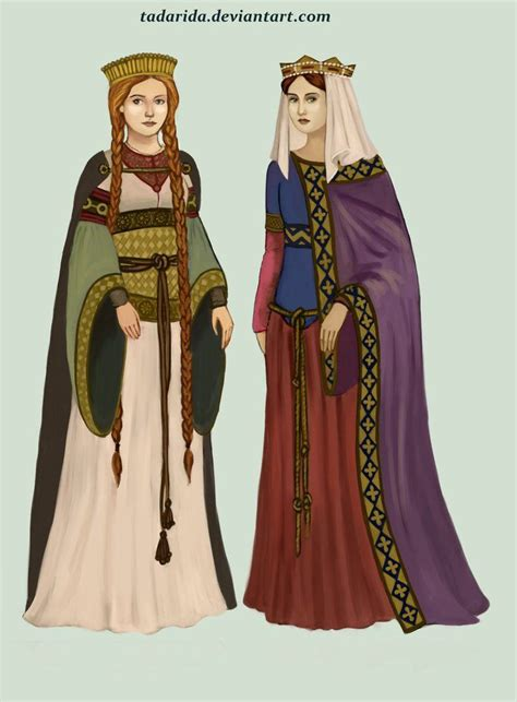 medieval clothing frankish women wore colourful tunics