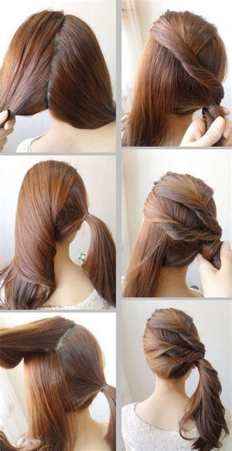 quick  easy   school hairstyle tutorials