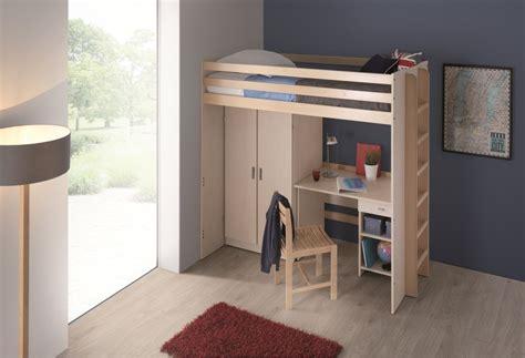 lit mezzanine bureau armoire lit mezzanine 80 x 200 cm morphea sommier panneau