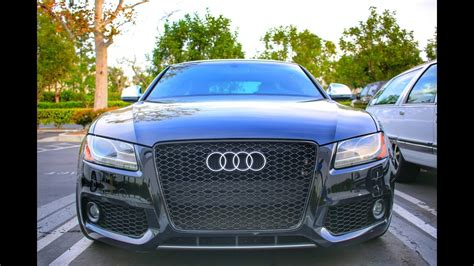 audi  grille install youtube