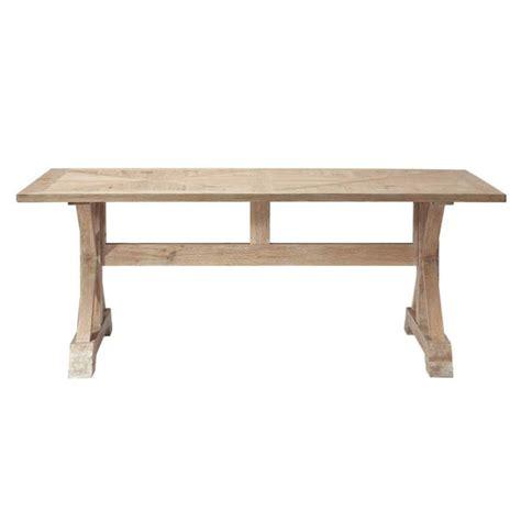table a manger en chene table de salle 224 manger en ch 234 ne l 200 cm ramatuelle maisons du monde
