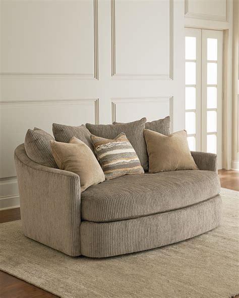 Curved Settee by Sheryl Curved Settee Neiman