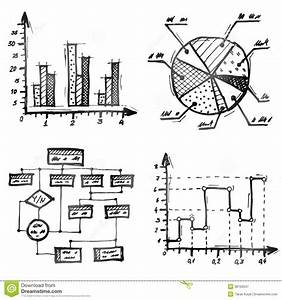 Hand Drawn Different Types Of Infographics Stock Vector