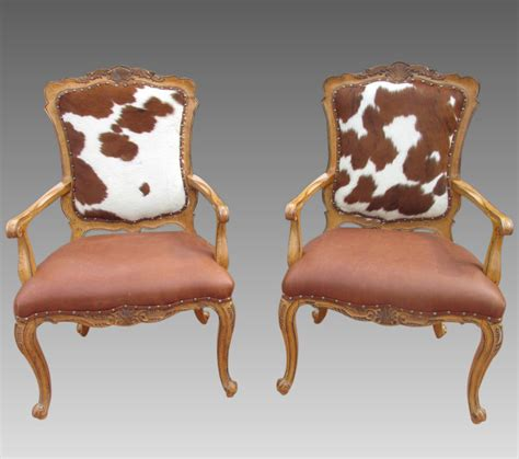 Cowhide Chairs by Cowhide Chairs Hair On Hide Accent Side Chair Pair Carved