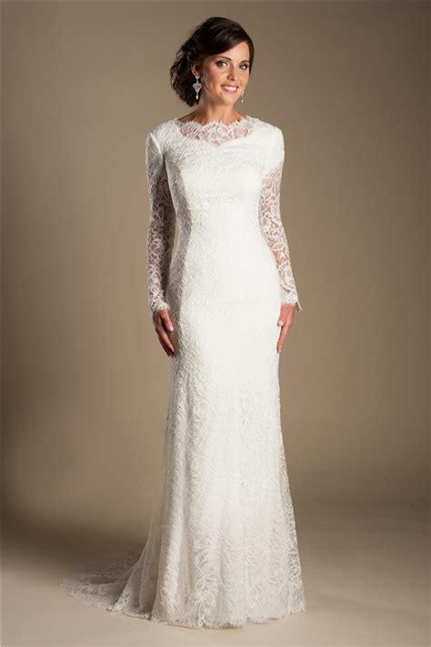modest mermaid high neck long sleeve vintage lace wedding