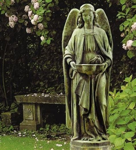 Holy Water Font Outdoor Garden Religious Figurine