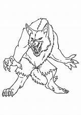 Coloring Demon Kleurplaat Monster Monsters Weerwolf Ausmalbilder Griezels Gevaarlijke Adult Kleurplaten Leuk Werewolf Voor Printable Books Scary Kostenlos sketch template