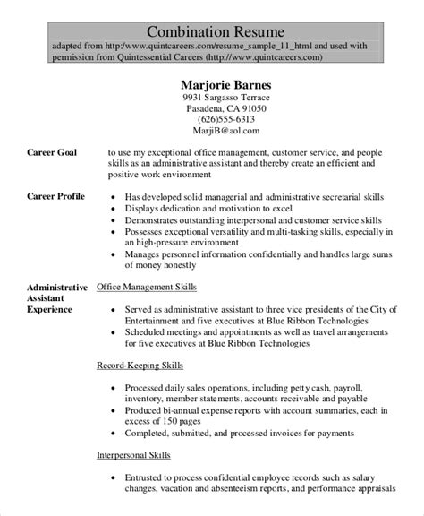 Senior Administrative Assistant Resume by 7 Senior Administrative Assistant Resume Templates Pdf