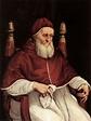 """""""Portrait of Pope Julius II"""" Raphael - Artwork on USEUM"""