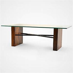 Canela wood glass top coffee table rotsen furniture for Glass inlay coffee table