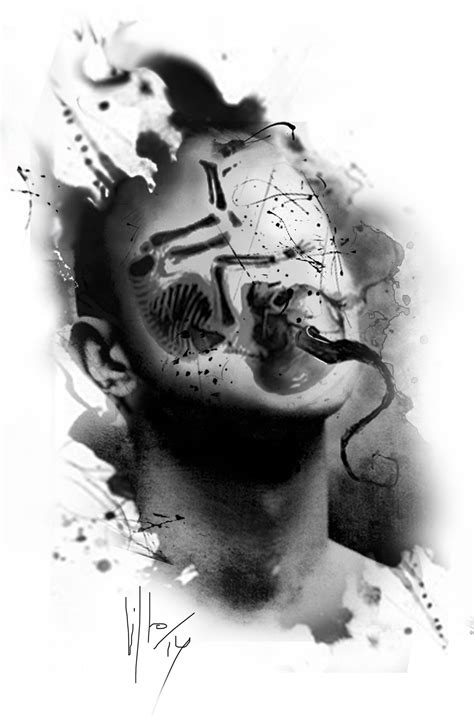 Double exposure by Rainer Lillo on Digital   Tattoo