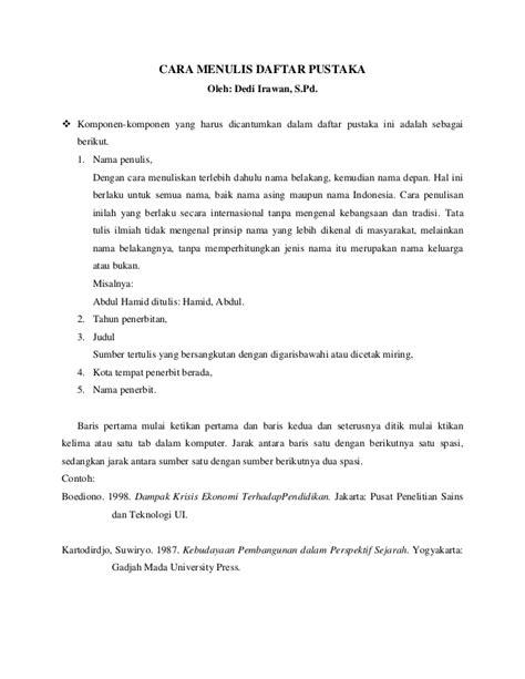 Daftar Contoh Isi Makalah