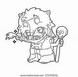 Coloring Caveman Cavernas Hombres Shutterstock sketch template