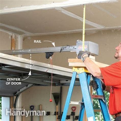how to install garage door how to install a garage door opener the family handyman