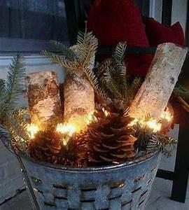 Holz Deko Weihnachten Draußen : weihnachtsdekoration ideen lichterkette eimer holz weihnachten pinterest eimer ~ Yasmunasinghe.com Haus und Dekorationen