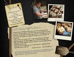 Mixbook Cookbook Layout Recipe