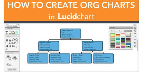 create  org chart  lucidchart youtube