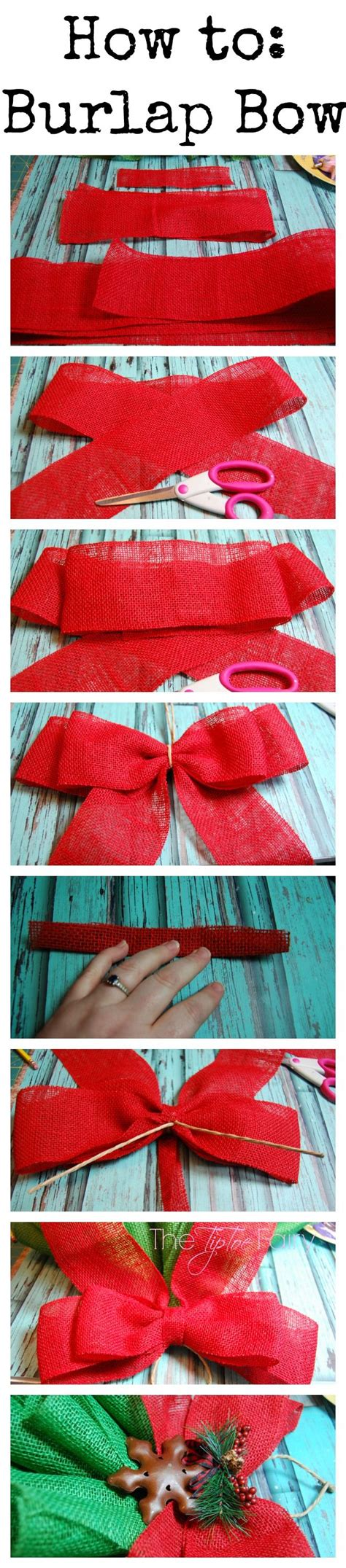 how to make christmas bows how to make a burlap bow pictures photos and images for facebook tumblr pinterest and twitter