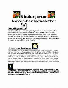 kindergarten november newsletter free download With free november newsletter templates