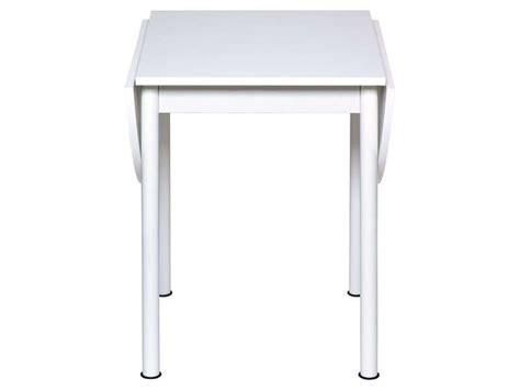table cuisine escamotable ou rabattable table avec allonges rabattables flipp coloris blanc